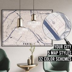 FREE SHIPPING WITHIN EU AND USA  We really love maps. Map prints, map posters, map illustrations. Our map designs consist 32 color schemes and 5 styles to choose from. Maps are very detailed and fully customizable if needed.    #mapprint #mapart #citymap #citymapprint #citymapposter #mapwallart #mapposter Map Posters, City Map Poster, Map Wall Art, Map Art, Map Illustrations, Paris Map, Custom Map, Map Design, City Maps