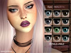 The Sims Resource: Eyes - REALISTIC by ANGISSI • Sims 4 Downloads