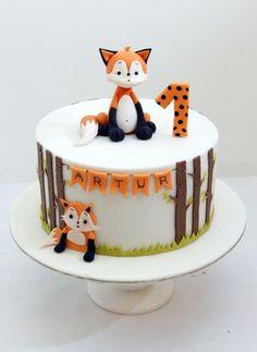 First Birthday cake. First Birthday cake. Toddler Birthday Cakes, Cute Birthday Cakes, Boys First Birthday Cake, Birthday Ideas, Fox Cake, Woodland Cake, Woodland Party, Cakes For Boys, Cute Cakes