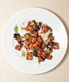 Eggplant and Tofu Stir-Fry from realsimple.com #myplate #vegetables