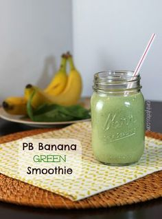 Emily Bites - Weight Watchers Friendly Recipes: PB Banana Green Smoothie