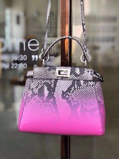 4fb3c3e117 Fendi MINI PEEKABOO python handbag pink Louis Vuitton Neverfull Gm