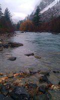 Nov 26, 2014-First Snow on Cayoosh Creek at Lillooet, BC