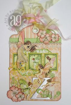 Annette's Creative Journey: Regular Ivory Tag with Graphic 45's Once Upon A Springtime collection.