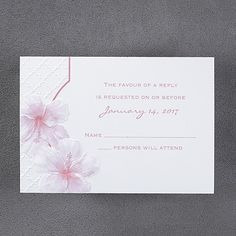 Sea Kissed Respond Card and Envelope weddingneeds.carlsoncraft.com