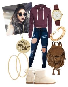 """""""3. Cranberry"""" by arnaichanel ❤ liked on Polyvore featuring H&M, UGG Australia, Scotch & Soda, Kate Spade, Alisa Michelle and Loren Stewart"""