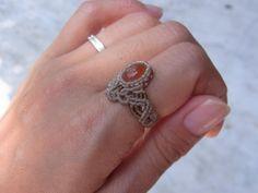 Φυσική πέτρα δαχτυλίδι / Fire Opal Opal 2 (Αρ 10,5-11) - φυσική πέτρα αξεσουάρ δι 'αλληλογραφίας | ARTEMANO (Arutemano)