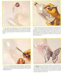 borboletas feitas com garrafas pet