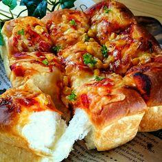 なっちゃんハピバ❤幸せのエアリーコーンピザちぎりパン
