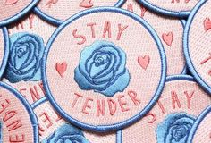The slogan. Stay tender to yourself and all your fellow earthlings. 3 inch iron…