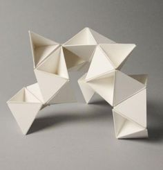 New Origami Architecture Geometry Paper Sculptures 21 Ideas - sandy, Origami Cube, Origami Bird, Origami Folding, Paper Folding, Origami Paper, Architecture Pliage, Architecture Origami, Concept Architecture, Geometry Architecture