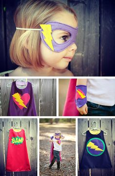 Superheroes costumes--forget kids, i want to make these costumes for myself for Halloween! Sewing For Kids, Diy For Kids, Cool Kids, Superhero Birthday Party, Birthday Parties, Batman Party, Boy Birthday, Costume Super Hero, Diy Costumes