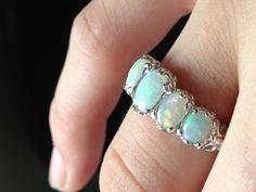 Opal Ring I Love Jewelry, Opal Jewelry, Jewelry Rings, Jewelry Accessories, Jewlery, Jewelry Box, Opal Birthstone, Love Ring, Jewellery Storage
