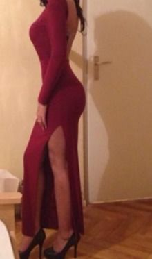 Lange jurk Met Split