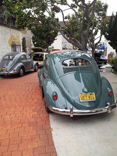 ovals Vw Super Beetle, Beetle Car, Green Beetle, Bug Car, Volkswagen Beetles, Vw Cars, Vw Camper, Cool Cars, Classic Cars