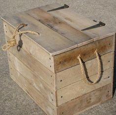 DIY Cool Pallet Box Storage | Pallet Furniture Plans