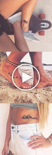 Ideas de tatuajes de palmeras para mujeres - Black Flower Ankle Foot Tatt - Mount ... #tatuajesflores #ideastatuajes