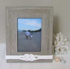 light rustic nautical picture frame 5x7 rope knot by golden gray - Nautical Picture Frames