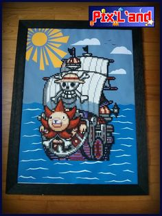 Thousand Sunny One Piece Hama beads by Pix-l-and