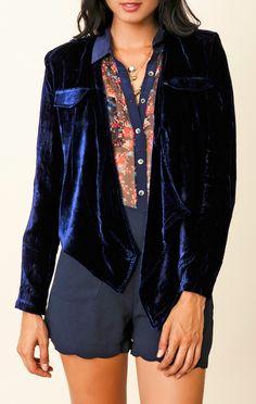 Funktional Velvet Drape Jacket - $140 @PlanetBlue