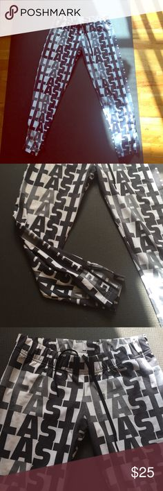 Stella McCartney exercise pants Stella McCartney stretchy exercise pants. Poly spandex blend. Worn lightly, minor wear/pilling in back. Adidas by Stella McCartney Pants Track Pants & Joggers