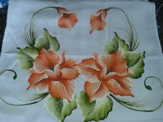 Painting Patterns, Fabric Painting, Fabric Art, Painting On Wood, Chinese Painting Flowers, Fabric Paint Designs, Fruit Picture, Hand Painted Fabric, One Stroke Painting
