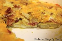 *Riches to Rags* by Dori: Potato and Bacon Fritatta