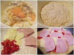 Plăcintă la tigaie cu aluat de cartofi, șuncă și cașcaval - Rețete Merișor Recipies, Food And Drink, Mexican, Cooking, Ethnic Recipes, Recipes, Baking Center, Kochen