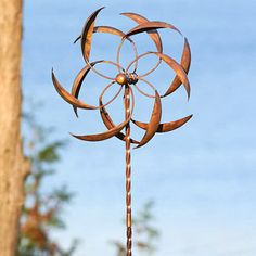 Amazing Feather Wind Spinner Large With Twisted Stake. Garden SpinnersGarden ...