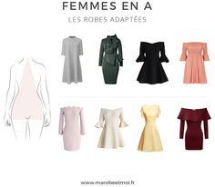 Vous voulez savoir quelle robe porter pour une morphologie en A ? Nous vous donnons toutes les astuces pour trouver la robe qui vous met en valeur !