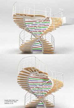 Some DNA stairs ... looks pretty cool but I could probably do better. Haha