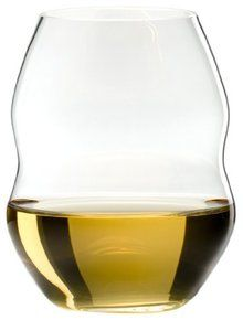 Riedel Swirl White Wine Glasses, Set of 4. Available at OurPamperedHome.com