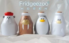 Fridgeezoo Hogen Talking Animal Drink Bottles - if I ever have kids who do not care about the environment...I will find a way to nag them..and nag them