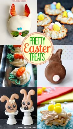 Spring is the perfect time to create Pretty Easter Treats! Make these Easter Treats & desserts for a brunch or send to school for the kids!