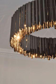 Facet Chandelier Black Nickel | Contemporary Lighting Project | Tom Kirk  #LGLimitlessDesign #Contest
