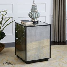 Matty Mirrored Side Table By Uttermost