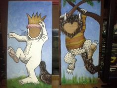 Where the wild Things Are - kids cut outs.  I painted these for TJ's 1st Birthday - anyone need some cut outs - Im up for higher$
