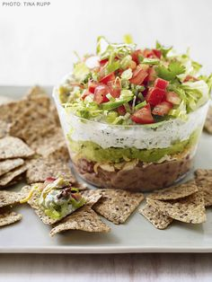 Slim Six Layer Dip #mexican #snackattack #appetizer