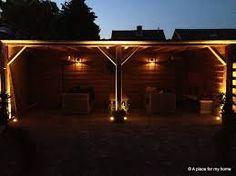 Mooi uitzicht van onder veranda (verlichting) | tuin design ...