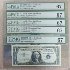1935-1957 One Dollar Note $1 Silver Certificate FINE-XF Bill Blue US Currency