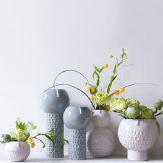 Designed by London-based designer Stella Baggott, each of these terracotta vases is hand-built, carved and glazed by artisans in Portugal. Fill them with air plants, ferns or succulents to turn them into cute characters with their own hairstyles.