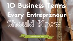Startup terms for business owners that every entrepreneur should know