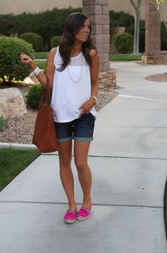 The Perfect Denim Shorts + Pink Espadrilles (+ J.Crew New Arrivals!)