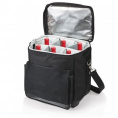 Shop now Cellar Insulated Wine Carrier Convertible Cooler Tote Bag by Picnic Time. Transport wine or a picnic lunch easily. Perfect for a picnic, tailgating or a party. Wine Carrier, Bottle Carrier, Bottle Bag, Picnic At Ascot, Luggage Trolley, Wine Bottle Holders, Wine Bottles, Wine Tote, Black Friday Shopping