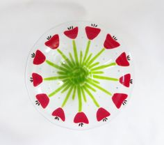 Items similar to Tulips // Poppies // Red FLowers // Fused ARt GLass Bowl // Deep // Candy // Garden // Floral // Red // Summer// Spring//Bright//Home Decor on Etsy Fused Glass Plates, Fused Glass Art, Bright Spring, Spring Green, Glass Flowers, Red Flowers, Valentine Doodle, Bright Homes, Red Poppies