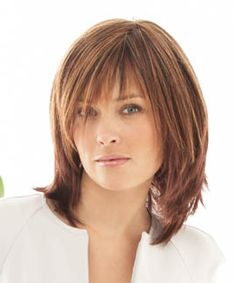 shoulder length razor cut with bangs -