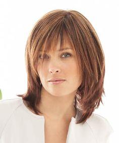 shoulder length razor cut with bangs -