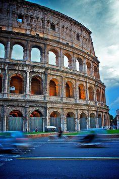 The Colliseum in Rome.