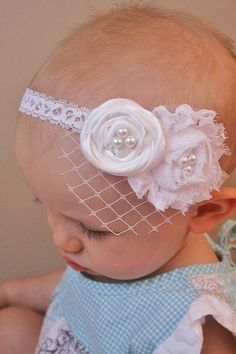 Baptism Headband  Christening Headband  by LittlePearlBoutique, $14.00