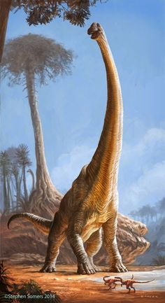 paleoillustration:  The Singing Sauropod by  Stephen Somers